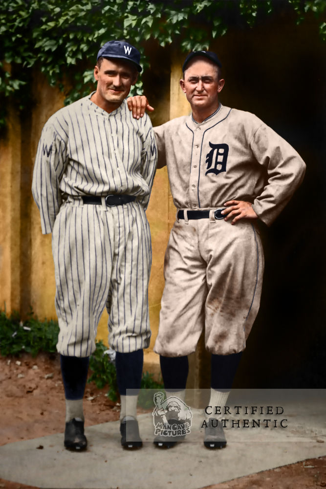 Walter Johnson & Ty Cobb (1921)
