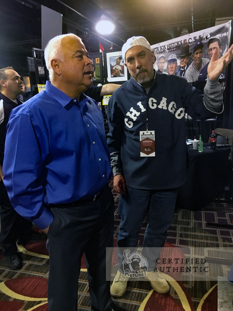 White Sox Skipper Ricky Renteria visiting the ManCave Pictures Gallery at 2018 SoxFest in Chicago, IL