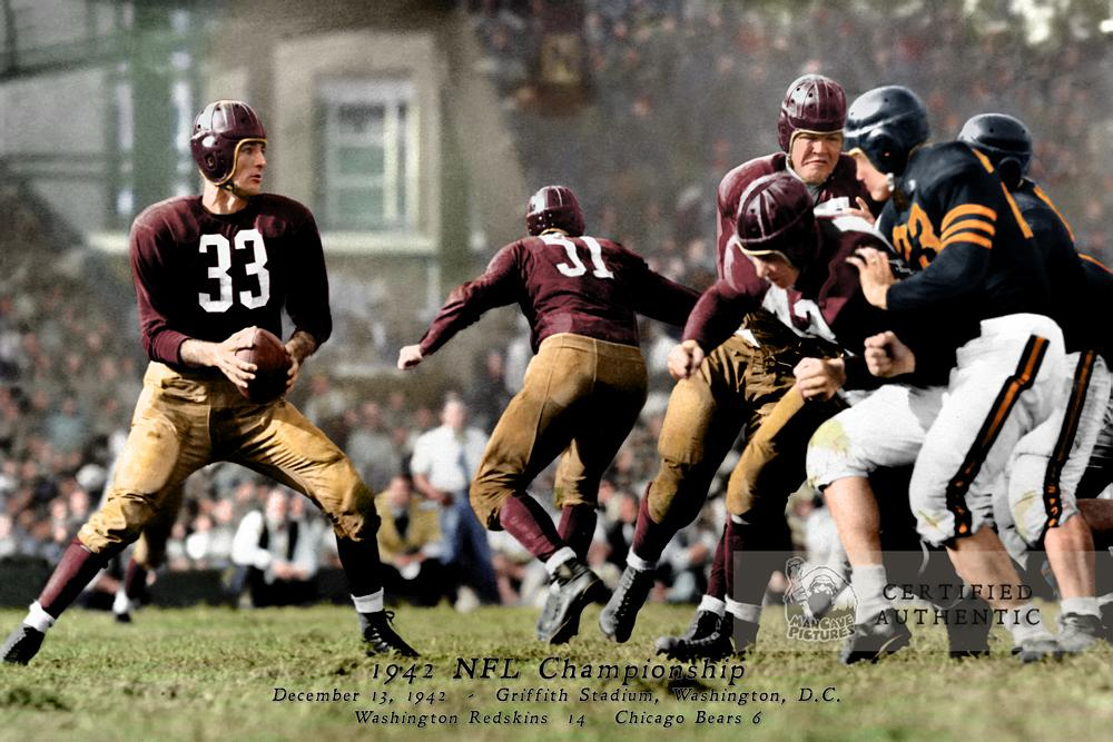 1942 NFL Championship - Sammy Baugh #33 and Washington vs. Chicago
