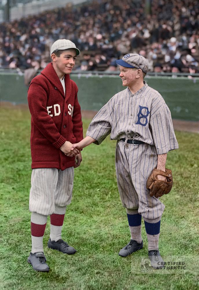 Team Mascots - Boston Red Sox & Brooklyn Robins (1916 World Series)