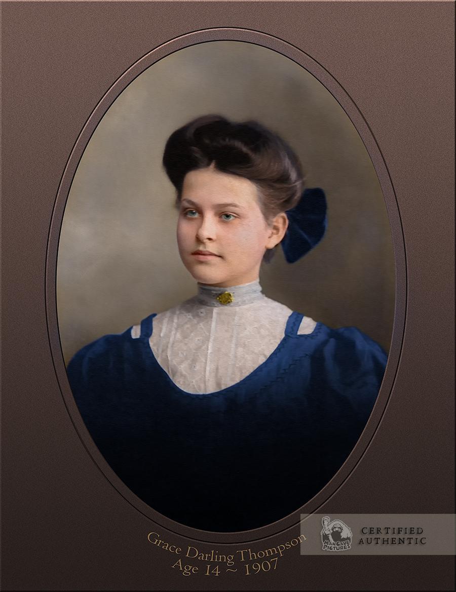 Grace Thompson, Age 14, 1907