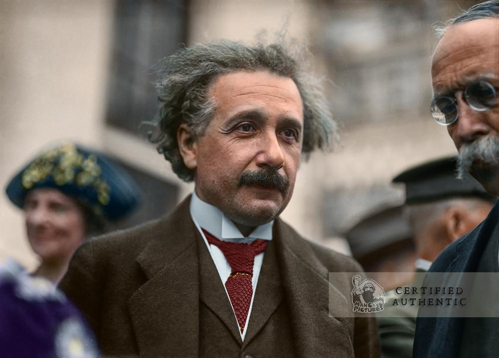 Albert Einstein at the Washington Naval Conference (Disarmament Conference), Washington D.C. (1921)