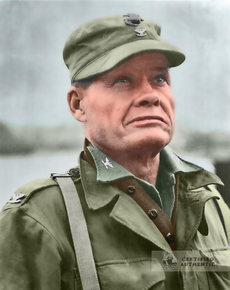 Colonel Lewis 'Chesty' Puller, U.S. Marine Corps - Commanding Officer, 1st Marine Regiment, 1st Marine Division, Inchon, Korea (1950)