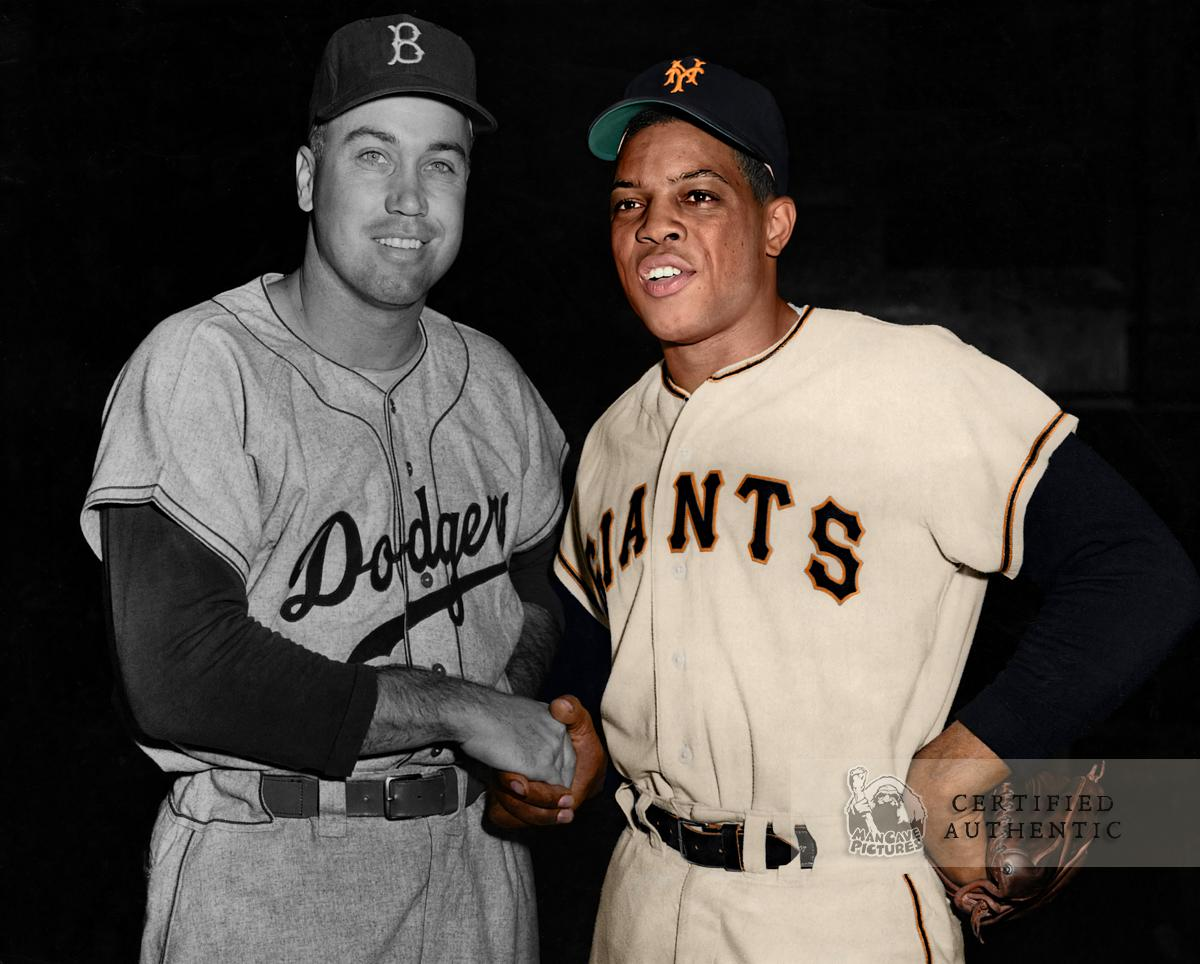 Duke Snider (Dodgers) and Willie Mays (Giants) (1954)