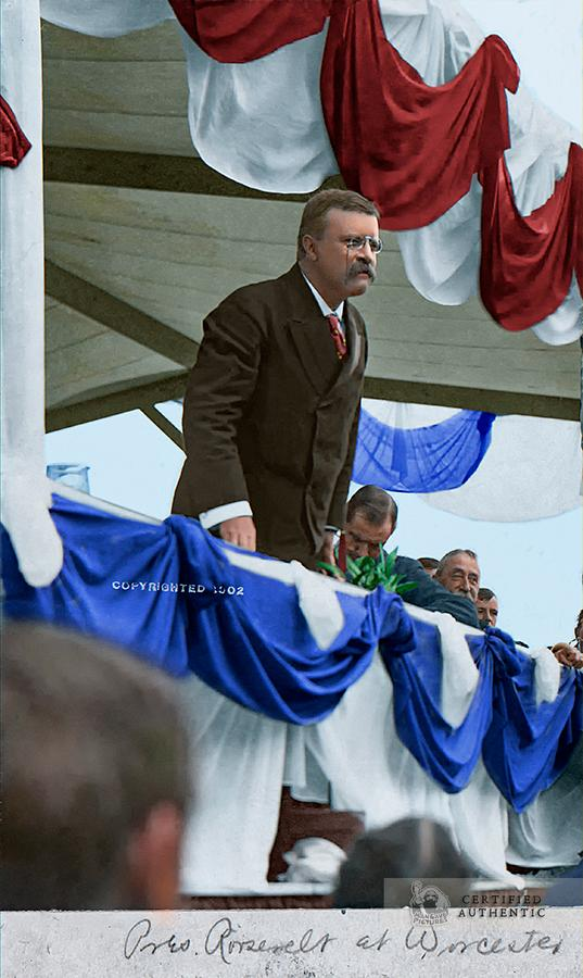 Teddy Roosevelt Campaigning 1902