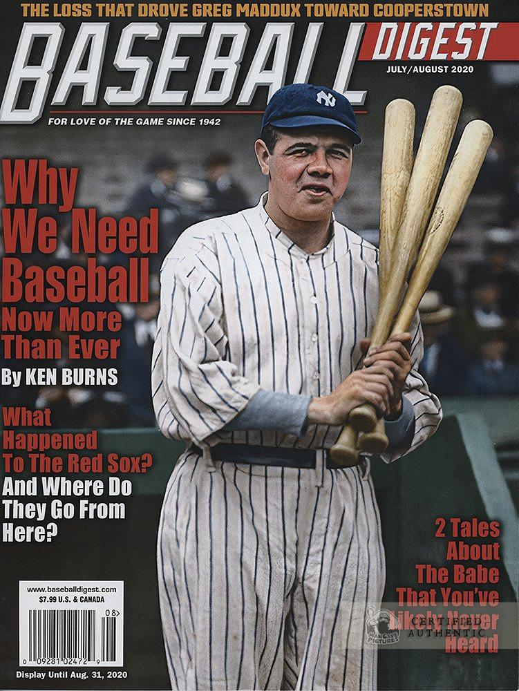 Babe Ruth 1920, Baseball Digest Cover (July 2020)