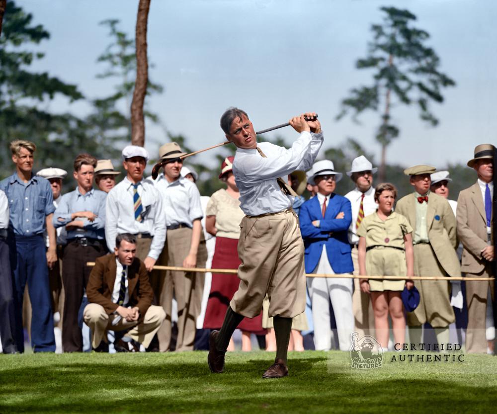 Bobby Jones - Oyster Harbors Club (1932) (Original B&W photo © 1932 Leslie Jones)