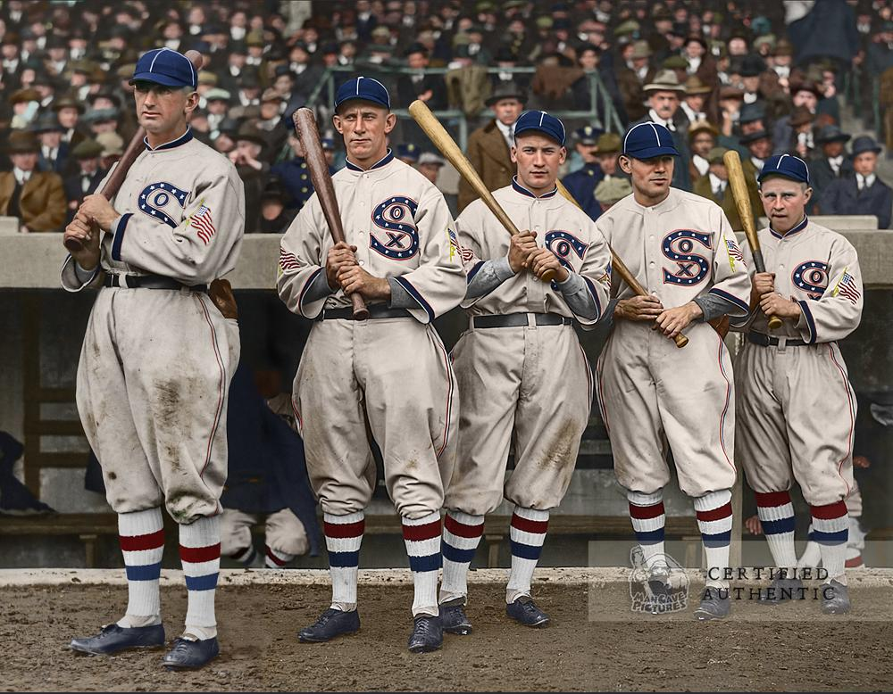 Chicago White Sox World Series Outfielders @ the Polo Grounds (1917)