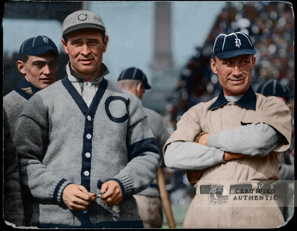 Frank Chance (Chicago Cubs) & Hughie Jennings (Detroit Tigers) - World Series (1907)