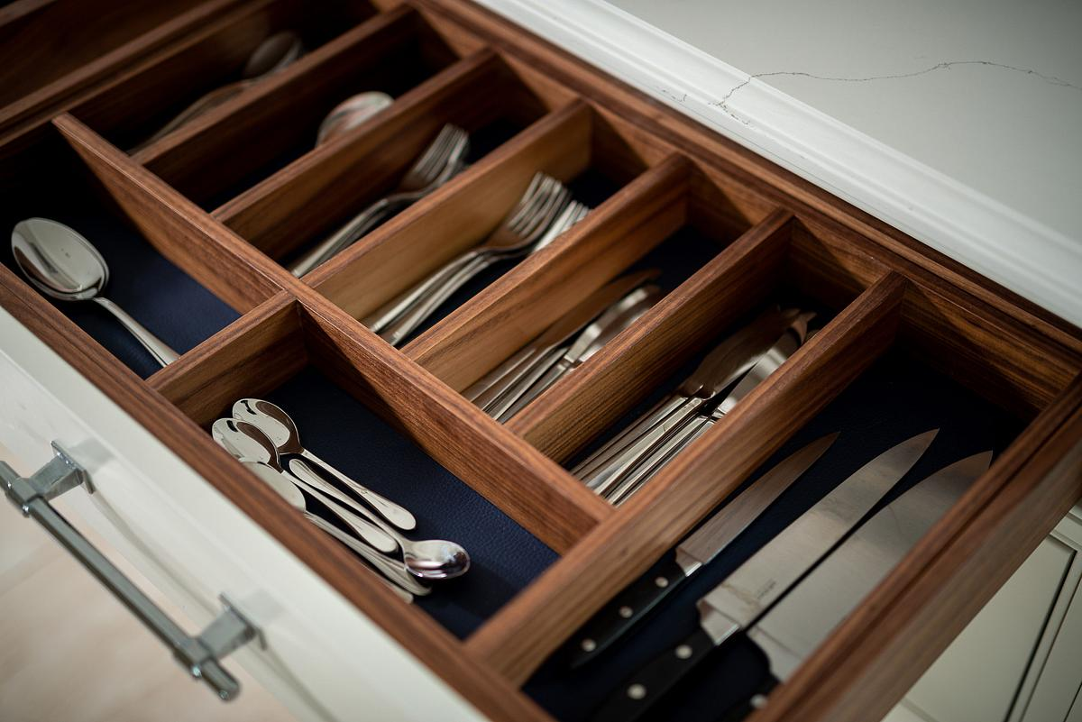 Close up of kitchen drawer