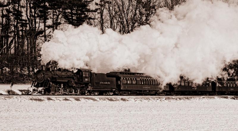 Strasburg Rail Road in the Snow