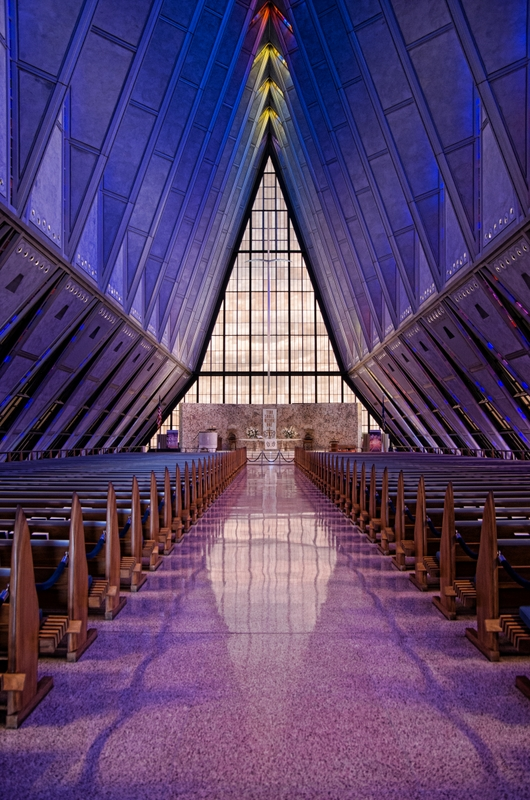 Inside the Air Force Chapel Colorado Springs