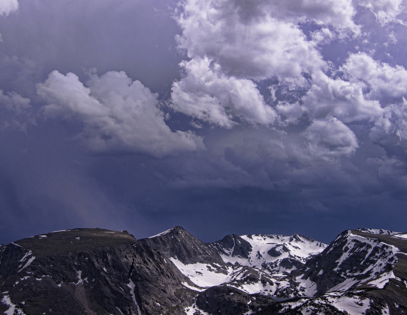 Stormfront over the Rocky Mountains