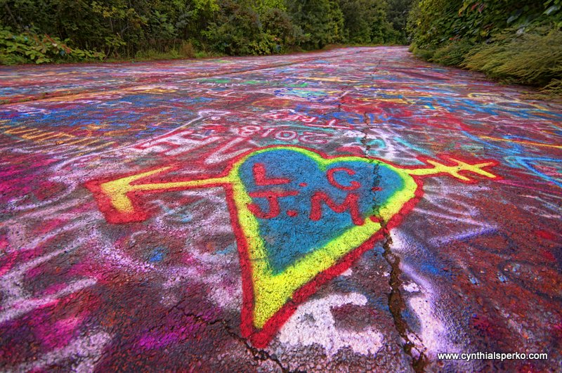 Graffiti Highway in Centralia PA