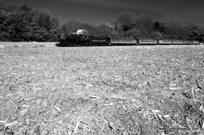Oncoming Strasburg Rail Road Train Roaring Home