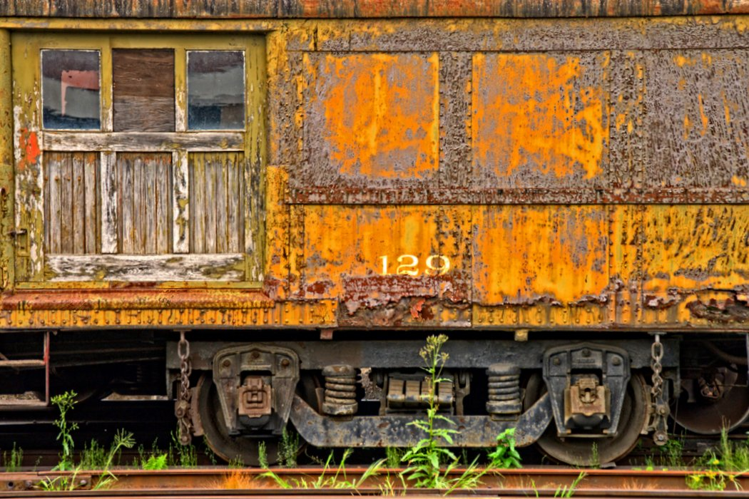 Old Yellow Rail Car