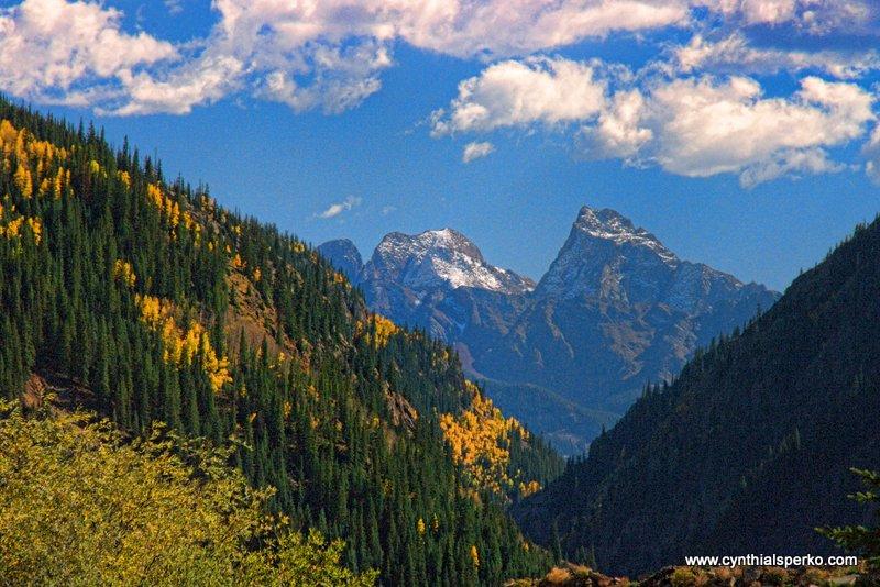 Colorado Mountain View in Autumn