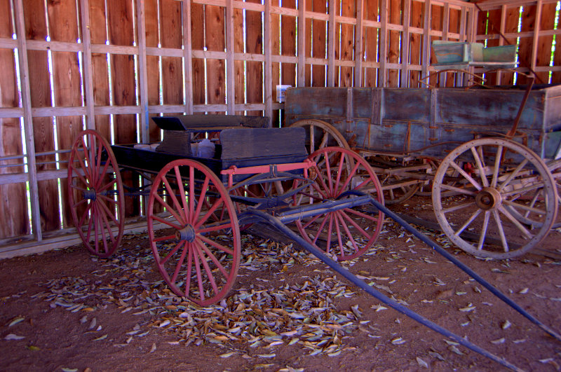 Old Wagons at the Pioneer Museum Fredericksburg Tx