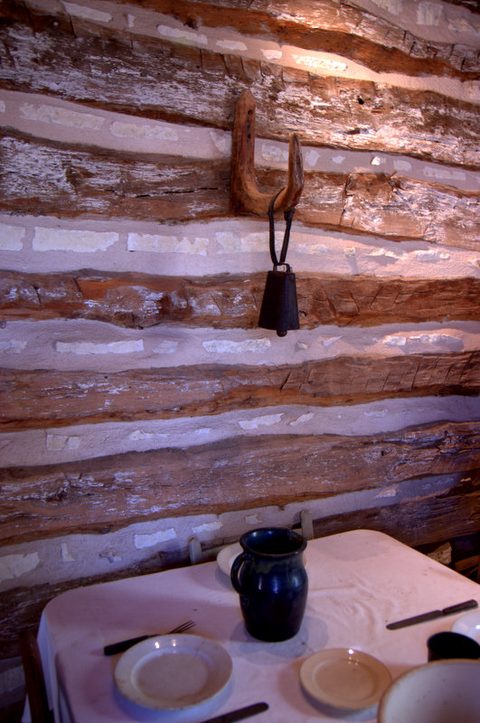 Inside the Walton Smith Log Cabin Pioneer Museum