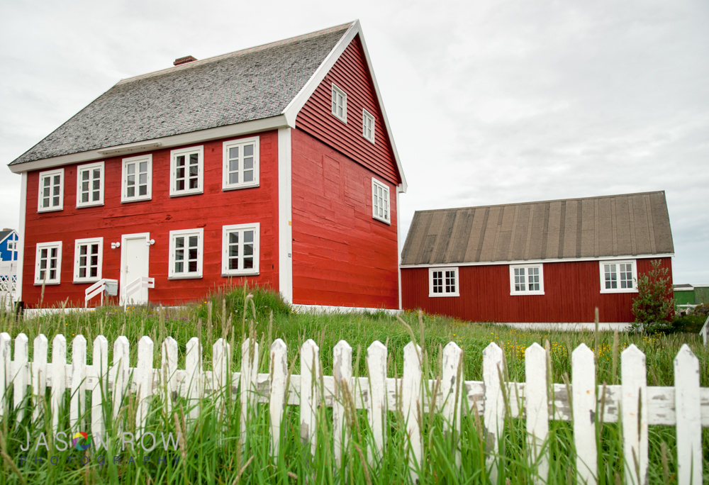 Red Timber House In Nuuk Greenland