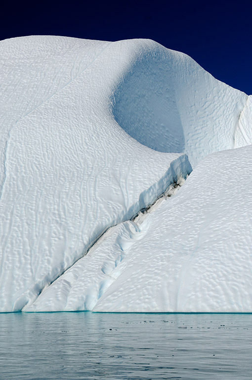 Crack in Large Iceberg in Greenland