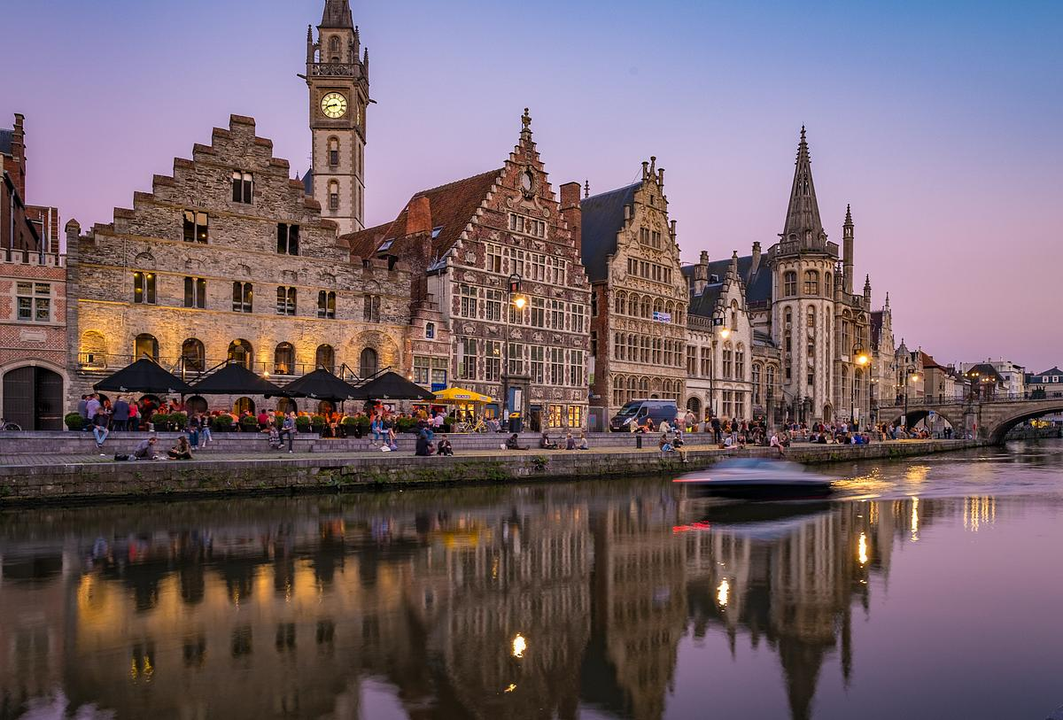 Blue Hour In Ghent