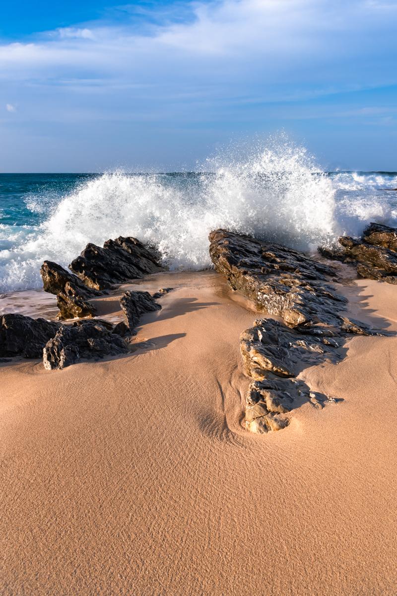 Waves rocks. Cala Mesquida. Capdepera. Mallorca. Balearic Islands