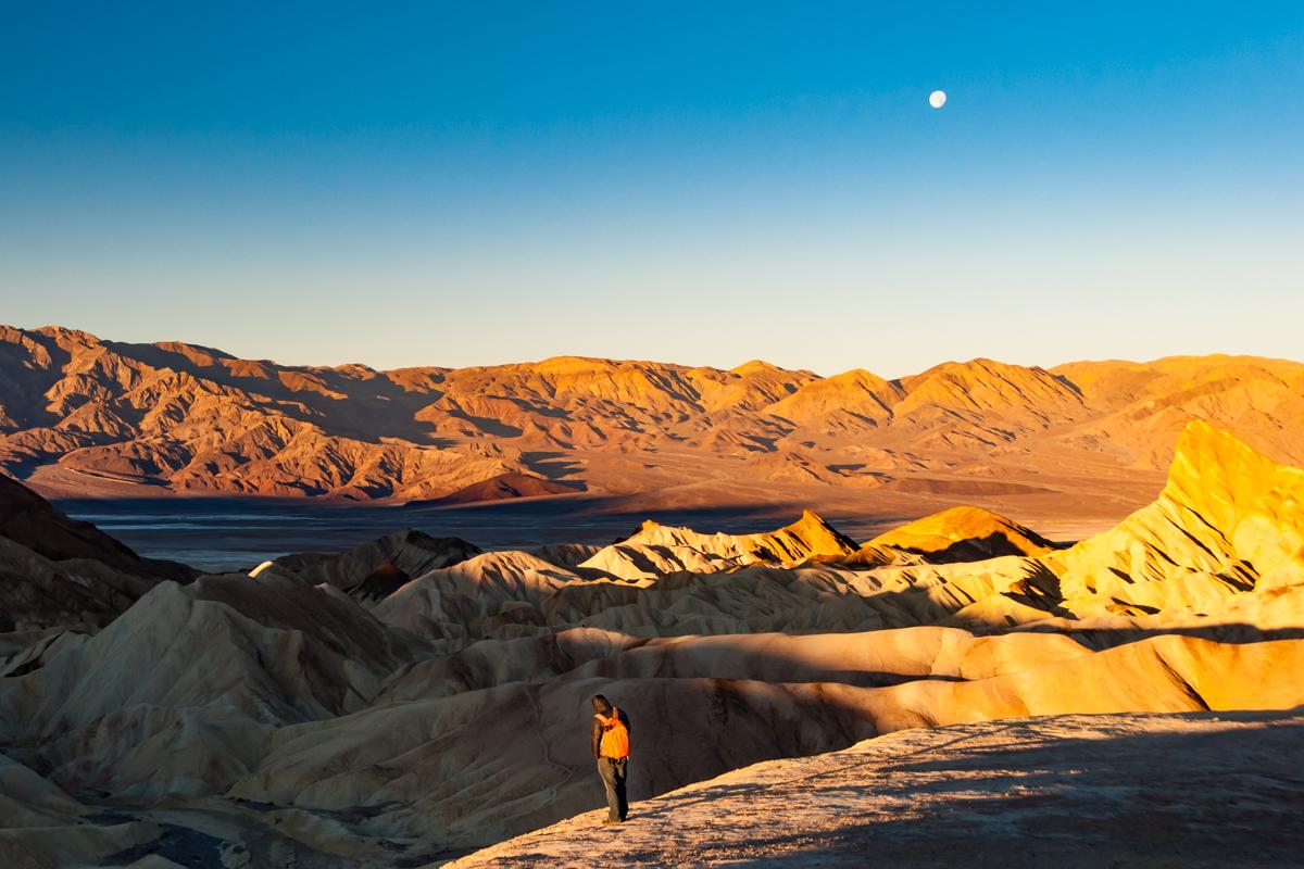 Sunrise at Zabriskie Point. Death Valley National Park. California. United States of America