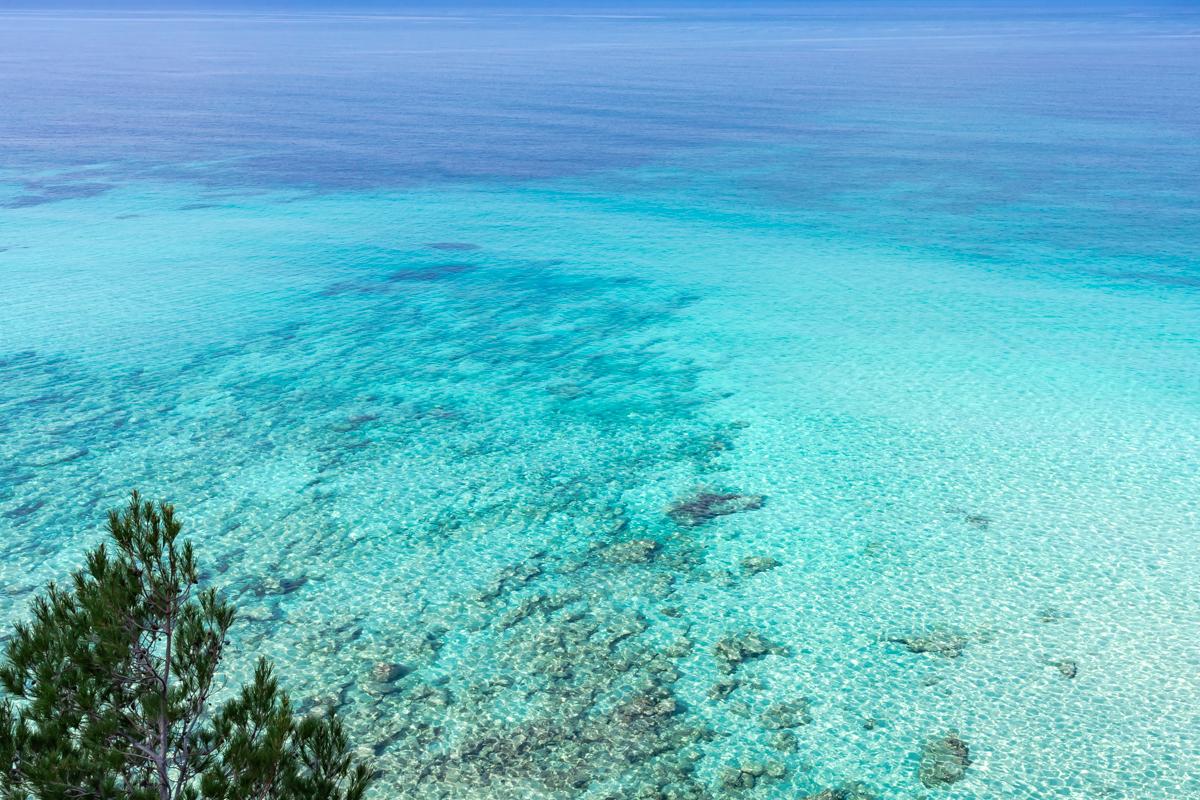 Turquoise waters. Cala Na Clara. Artá. Mallorca. Balearic Islands