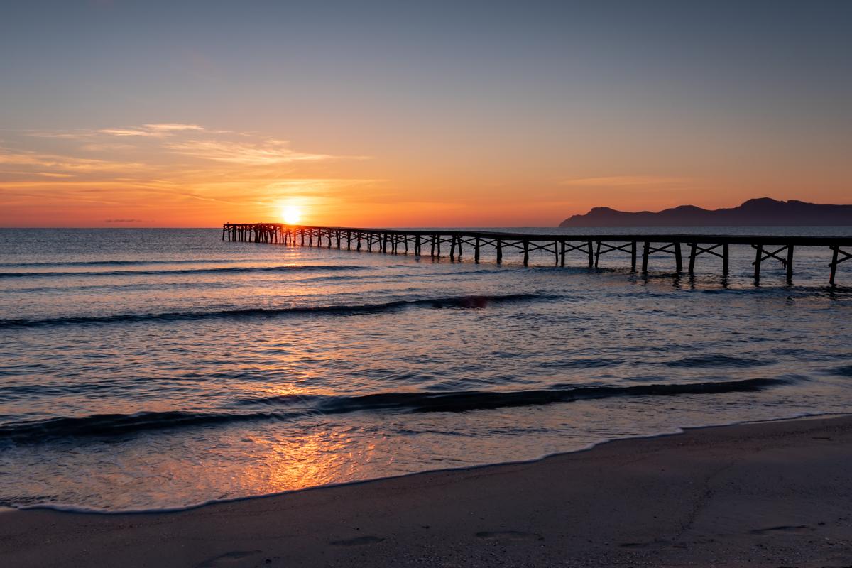 Sunrise at Playa de Muro beach - Muro. Mallorca. Balearic Islands
