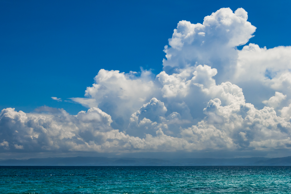 Storm is coming. Cayo Levantado island. Dominican Republic