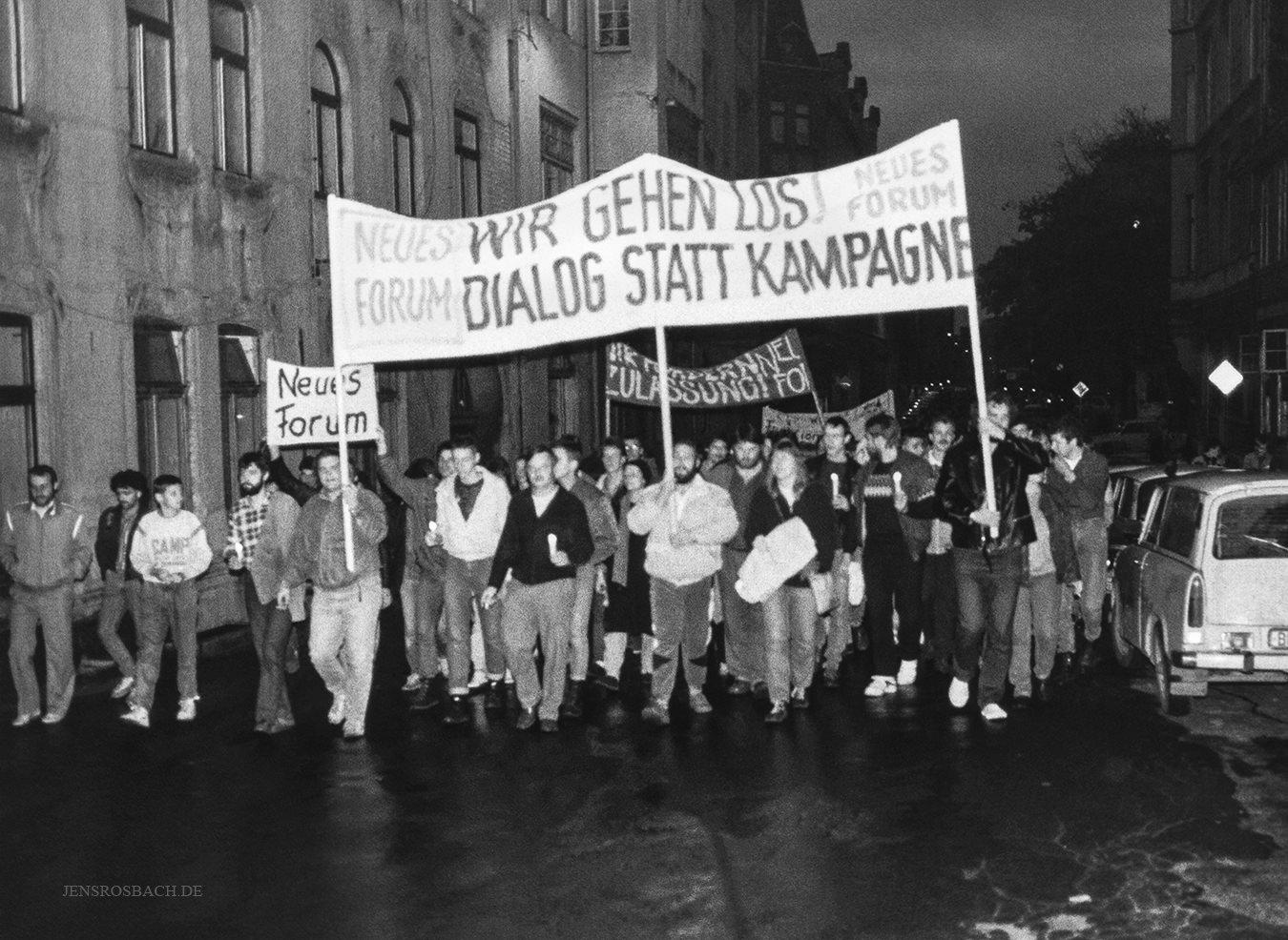First demonstration in Schwerin