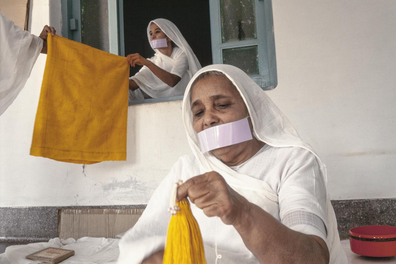 Jain nuns at an ashram