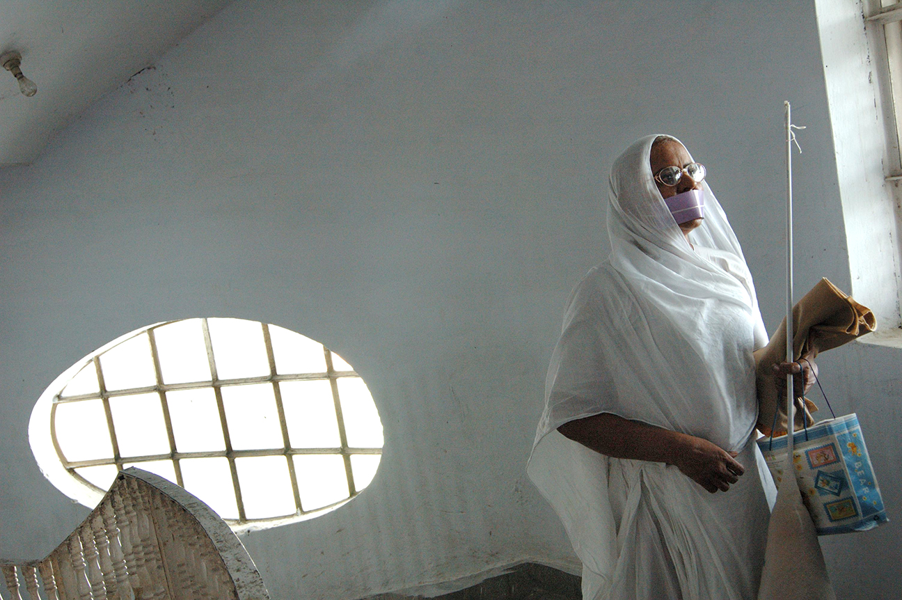 A Jain nun at an ashram