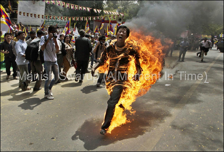India China Tibet Protest
