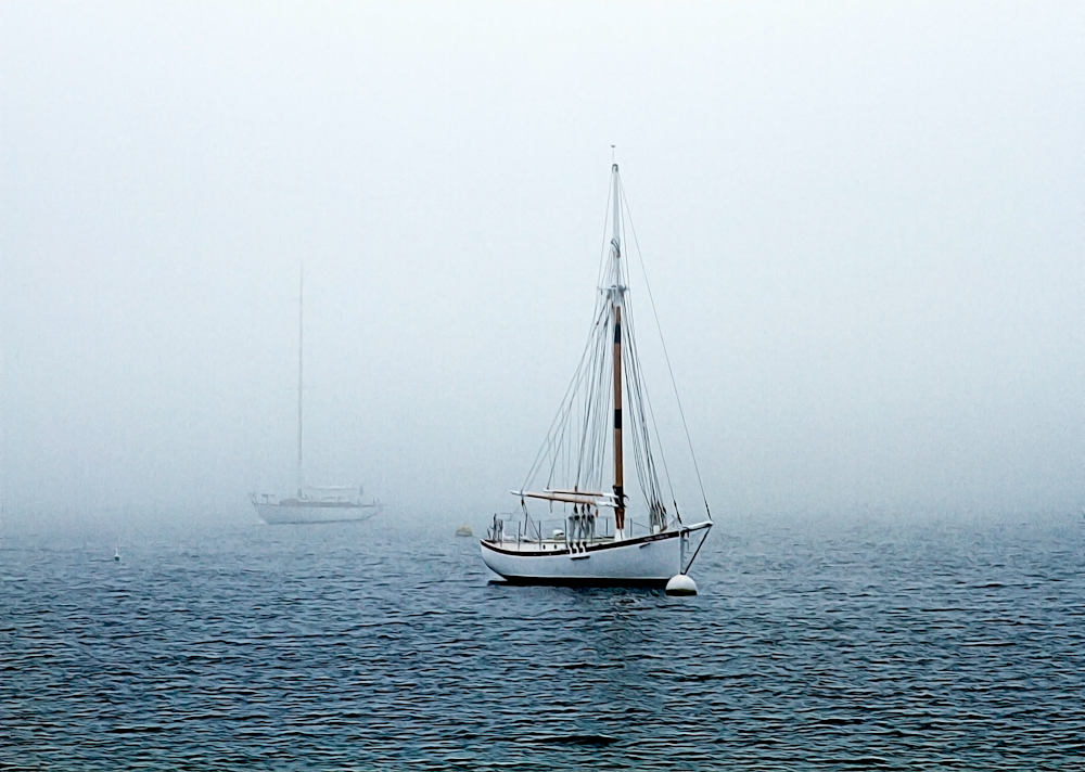 Sailboat in the Mist