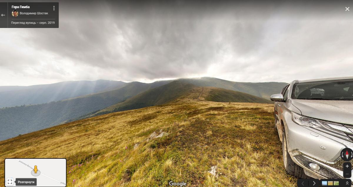 Віртуальний тур на карті google