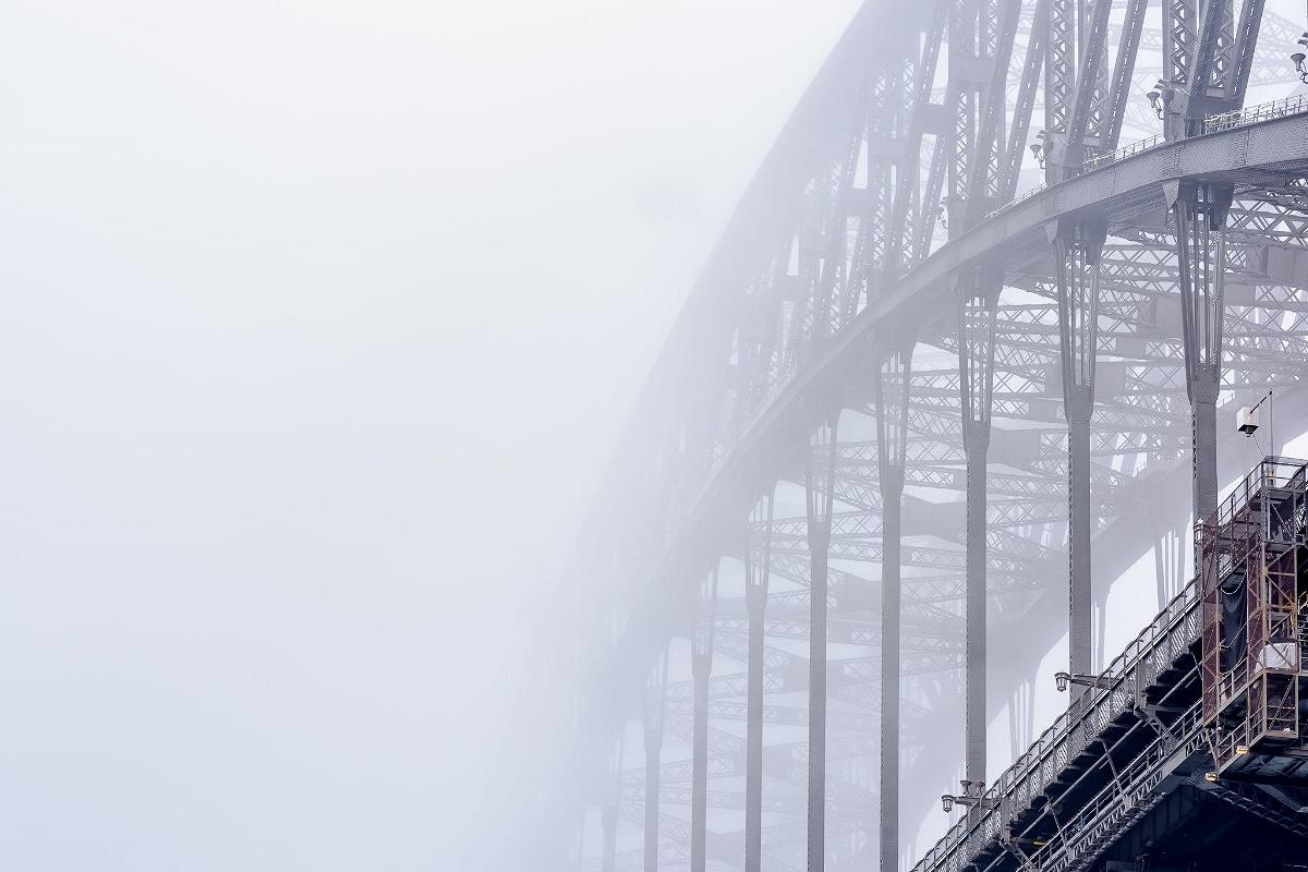 Iron Clad Fog, The Sydney Harbour Bridge, photographed by Ben Guthrie