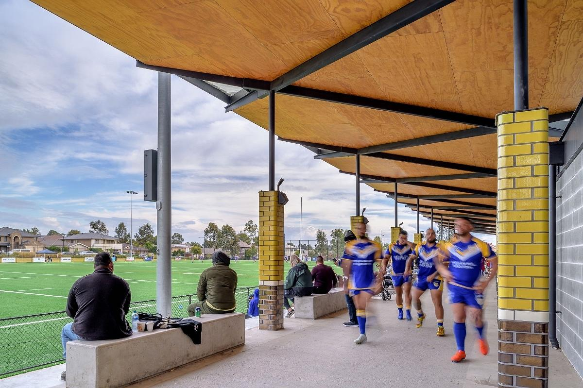 NRL Amenities, Fyfe Rd Kellyville, by Lahz Nimmo Architects