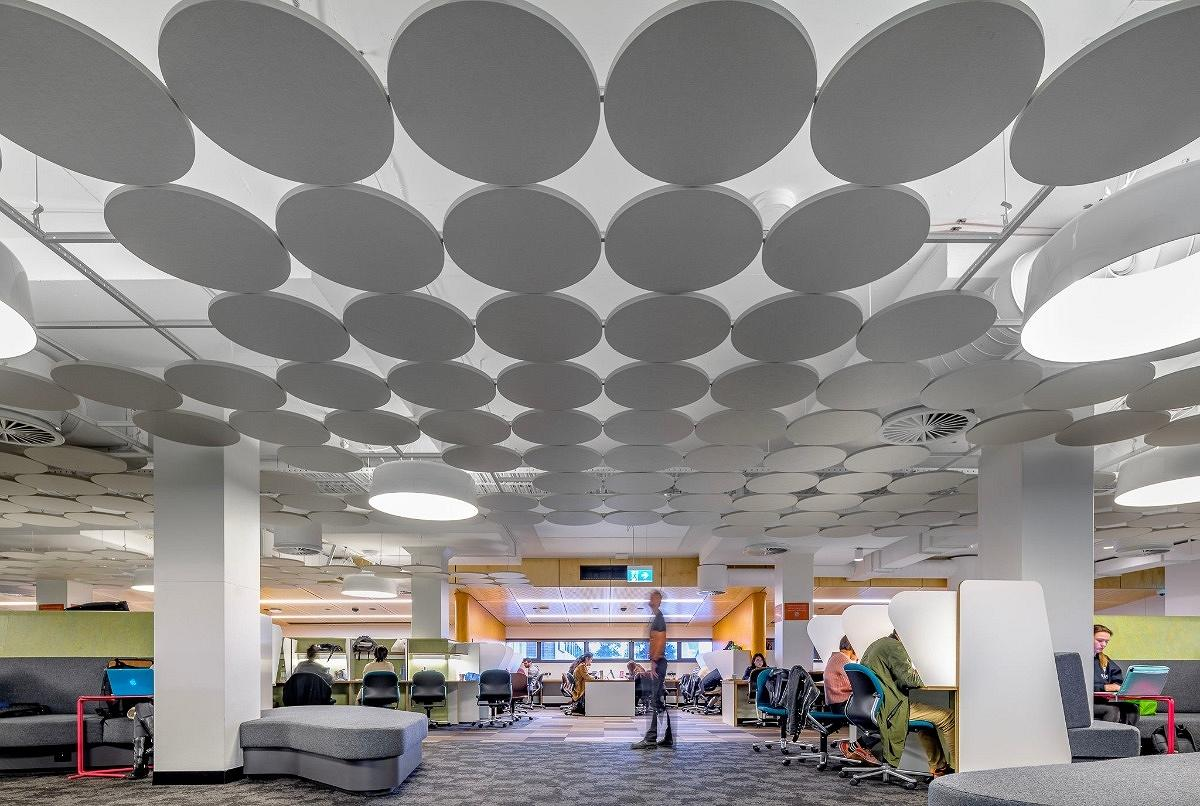 UNSW Library Interior, by Lahz Nimmo Architects