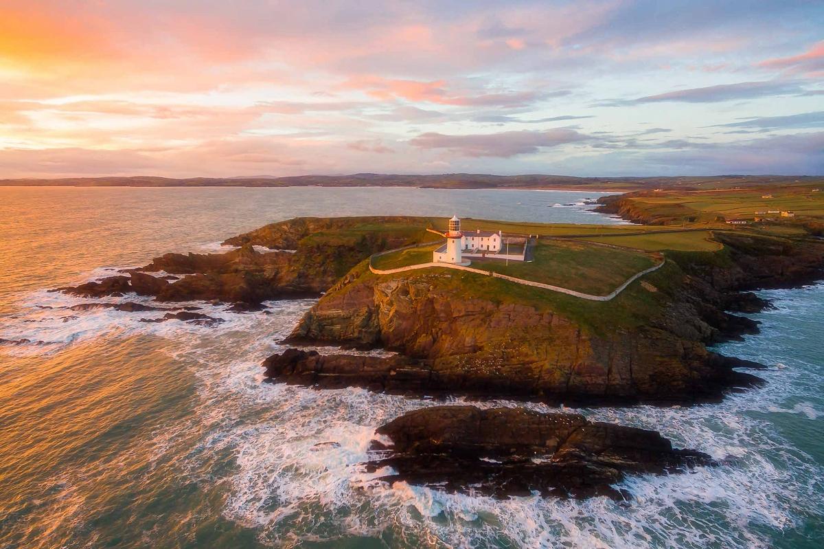 Galley Head Lighthouse, West Cork, Ireland at Sunset