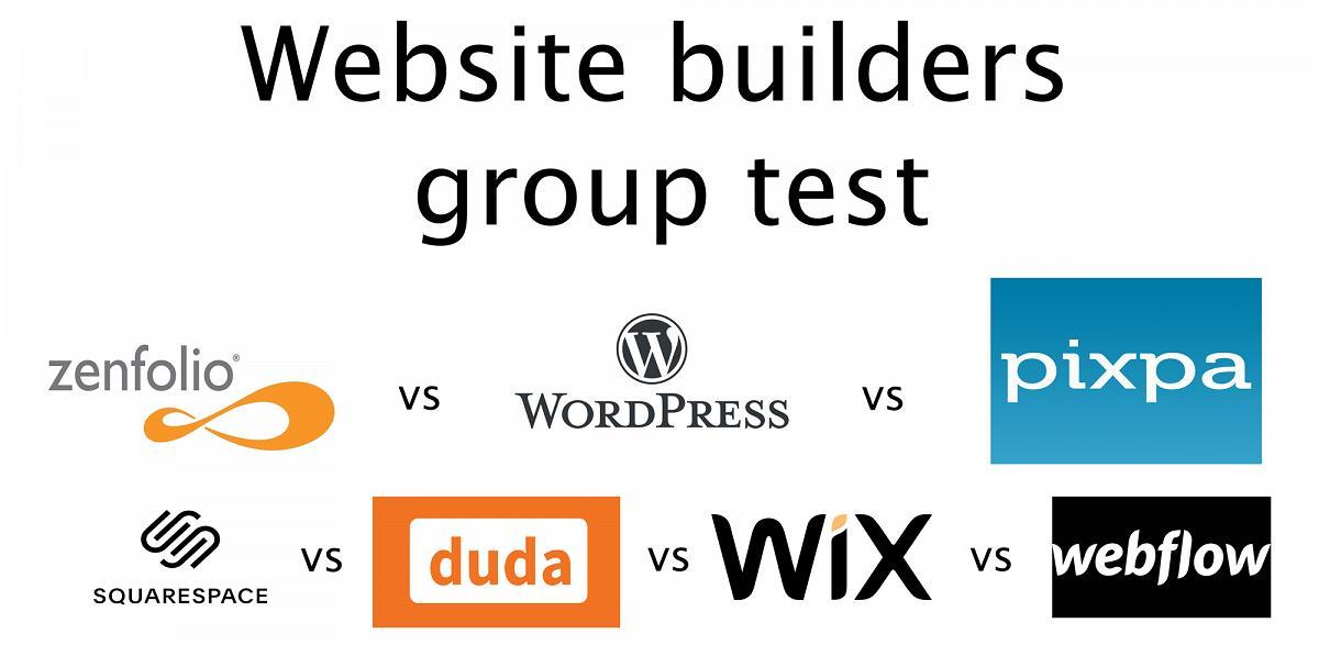 Squarespace vs wix vs wordpress vs zenfolio vs webflow vs pixpa image