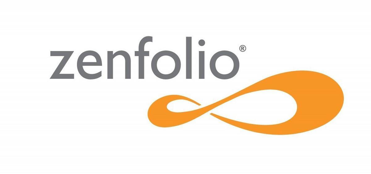 Zenfolio logo for the review of Squarespace vs wix vs wordpress vs zenfolio vs webflow vs pixpa image