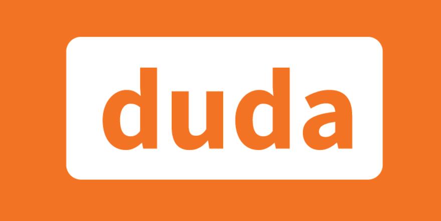 duda logo for the review of Squarespace vs wix vs wordpress vs zenfolio vs webflow vs pixpa image