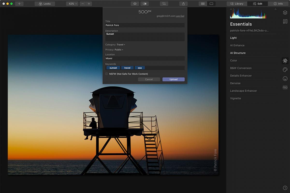 Luminar 4.3 update 500px integration