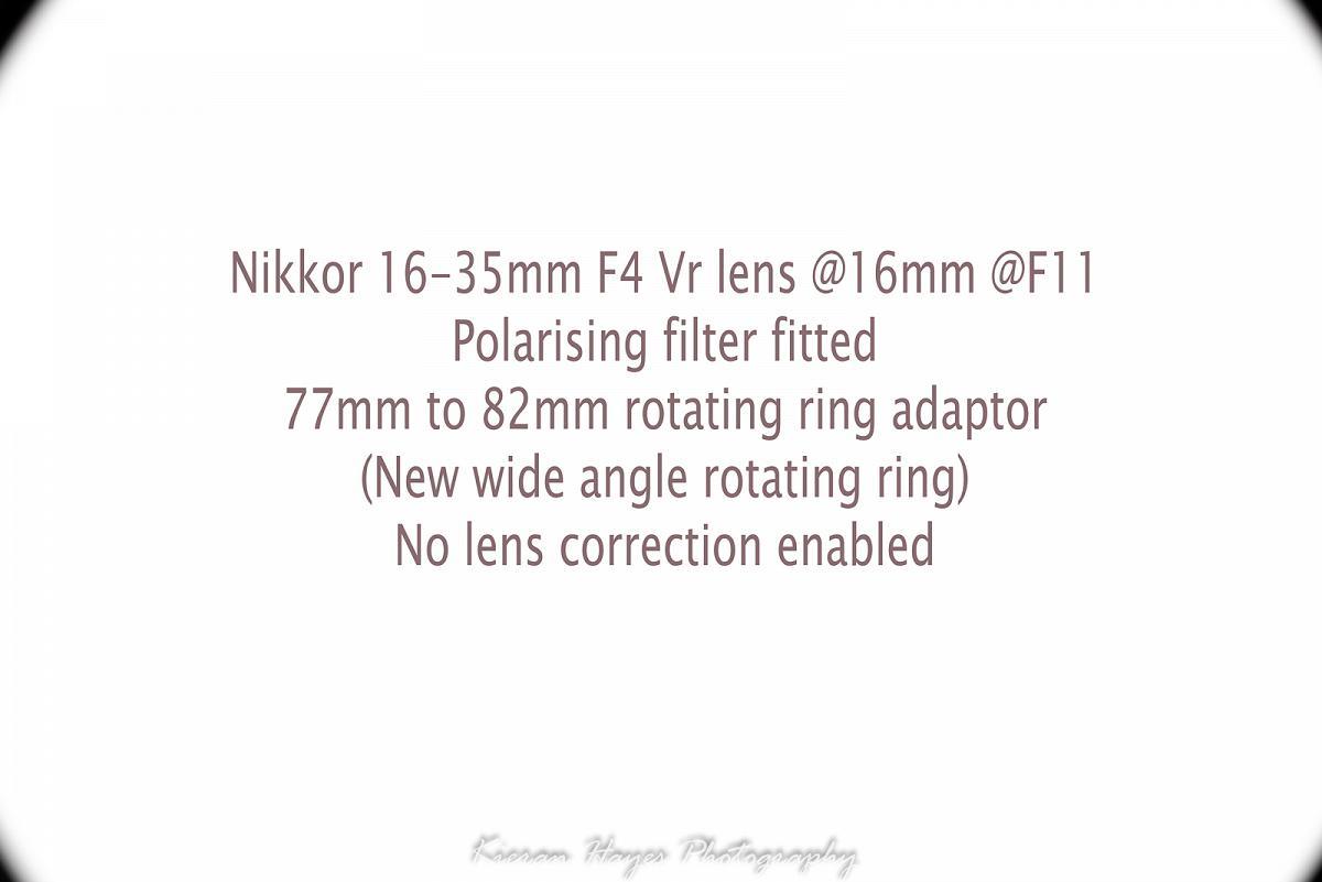 Formatt Hitech Firecrest 100mm filter holder Vignetting image