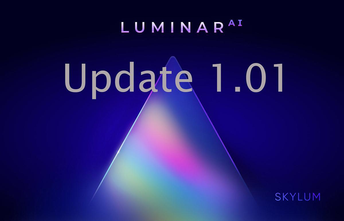 Luminar AI 1.01 update image