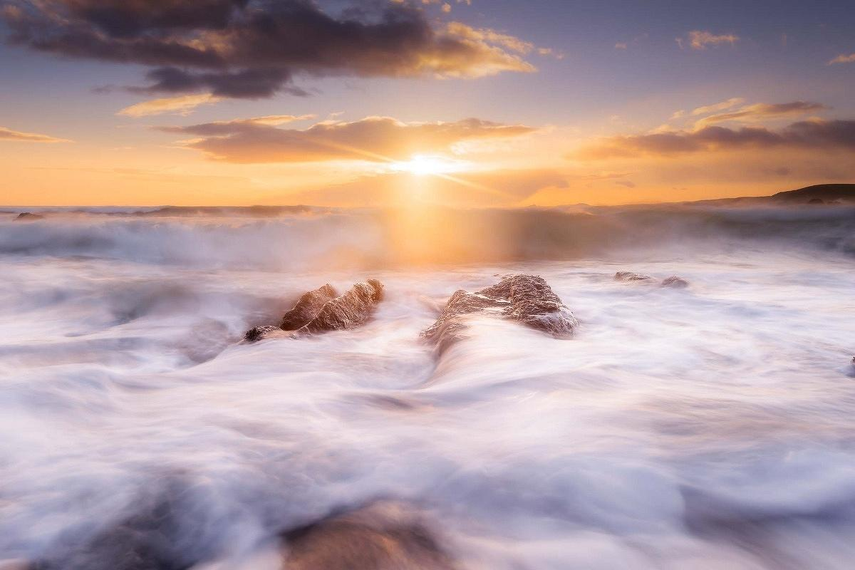 A sunset seascape photography photograph to showcase the style of image captured on one of my photography workshops
