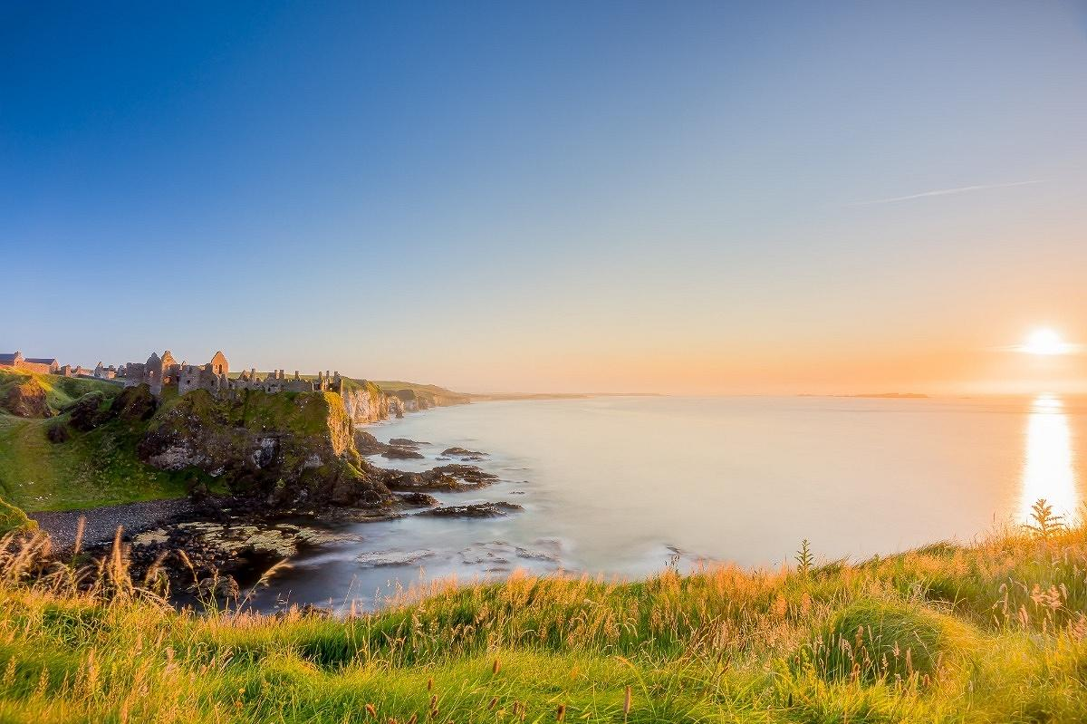 landscape photography Ireland, Dunluce castle Sunset