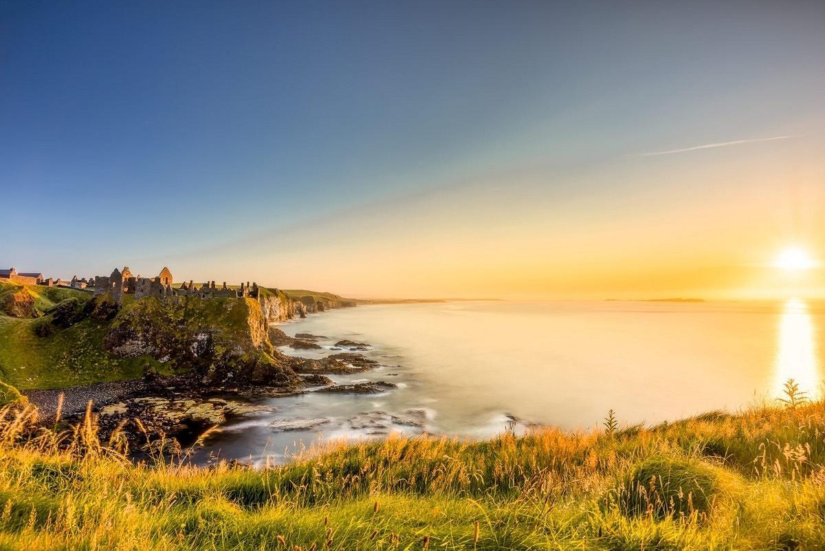 landscape photography Ireland, Dunluce castle Sunset